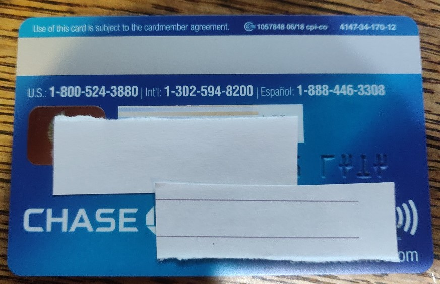 New Chase contactless Card  Along with the new Uni