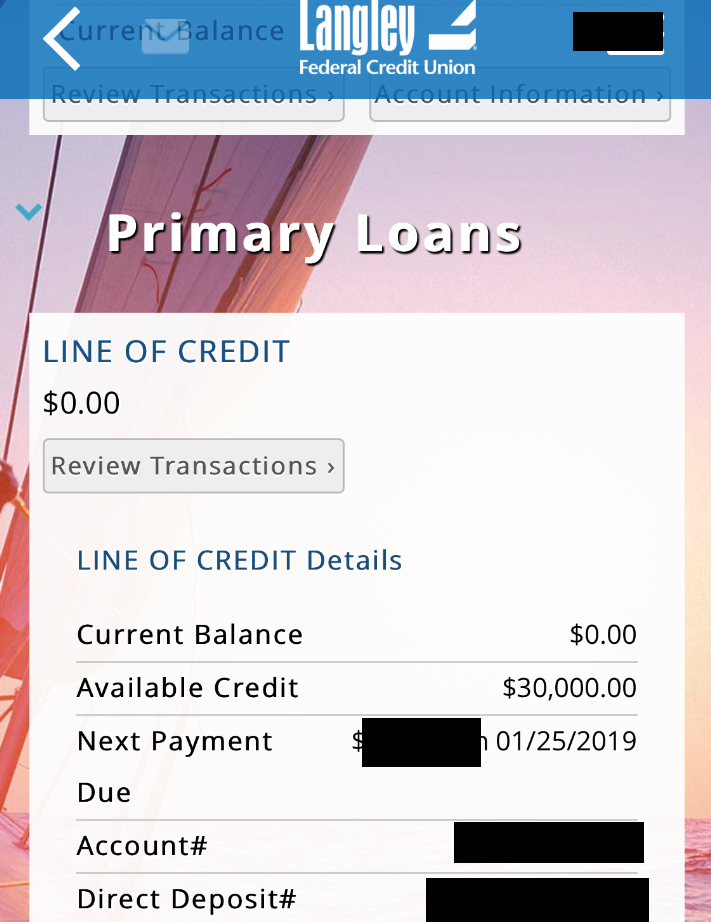 Langley FCU LOC 30K Approved :) - myFICO® Forums - 5453421