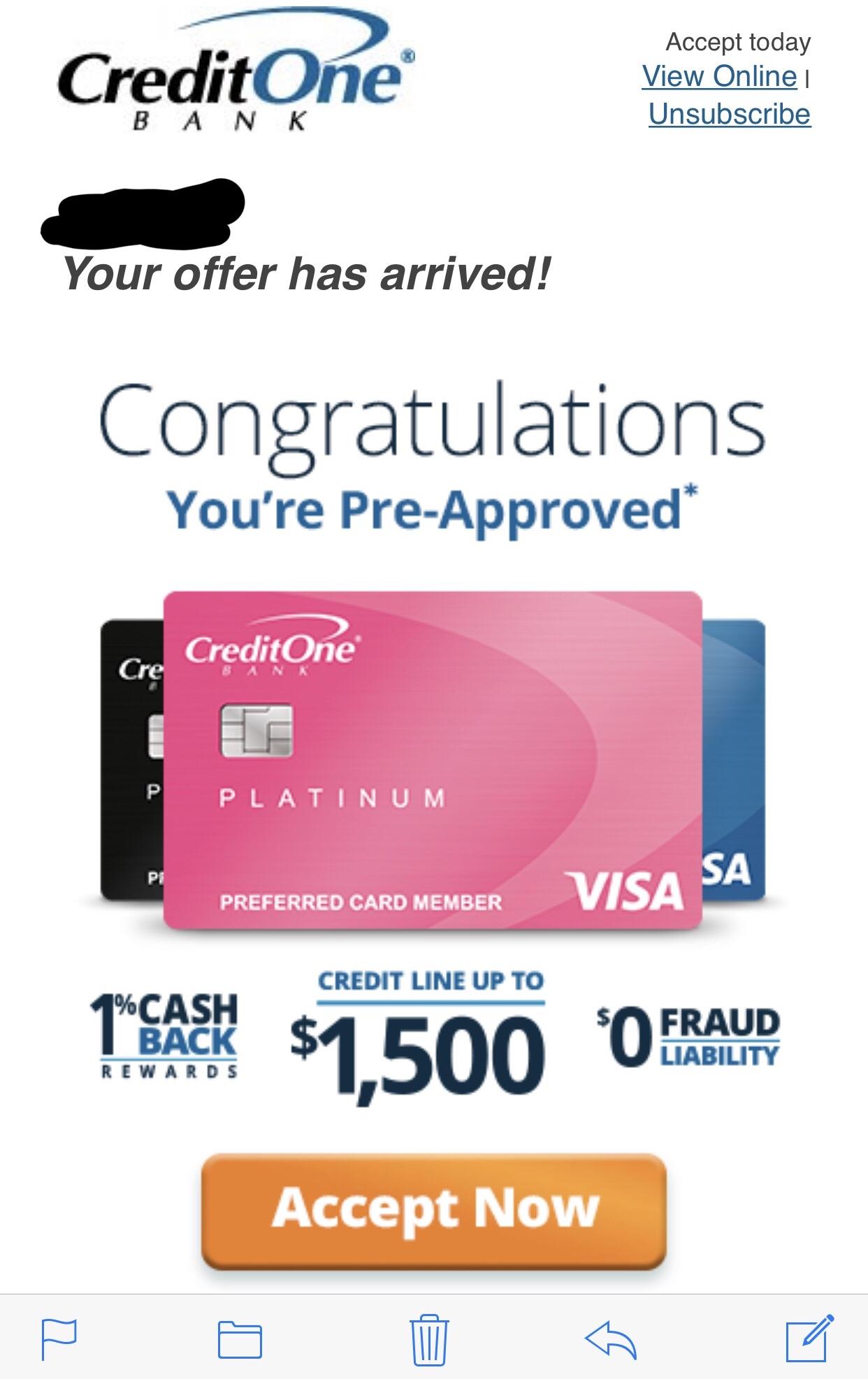 Credit One Pre Approval >> Credit One Pre Approval Myfico Forums 5484493