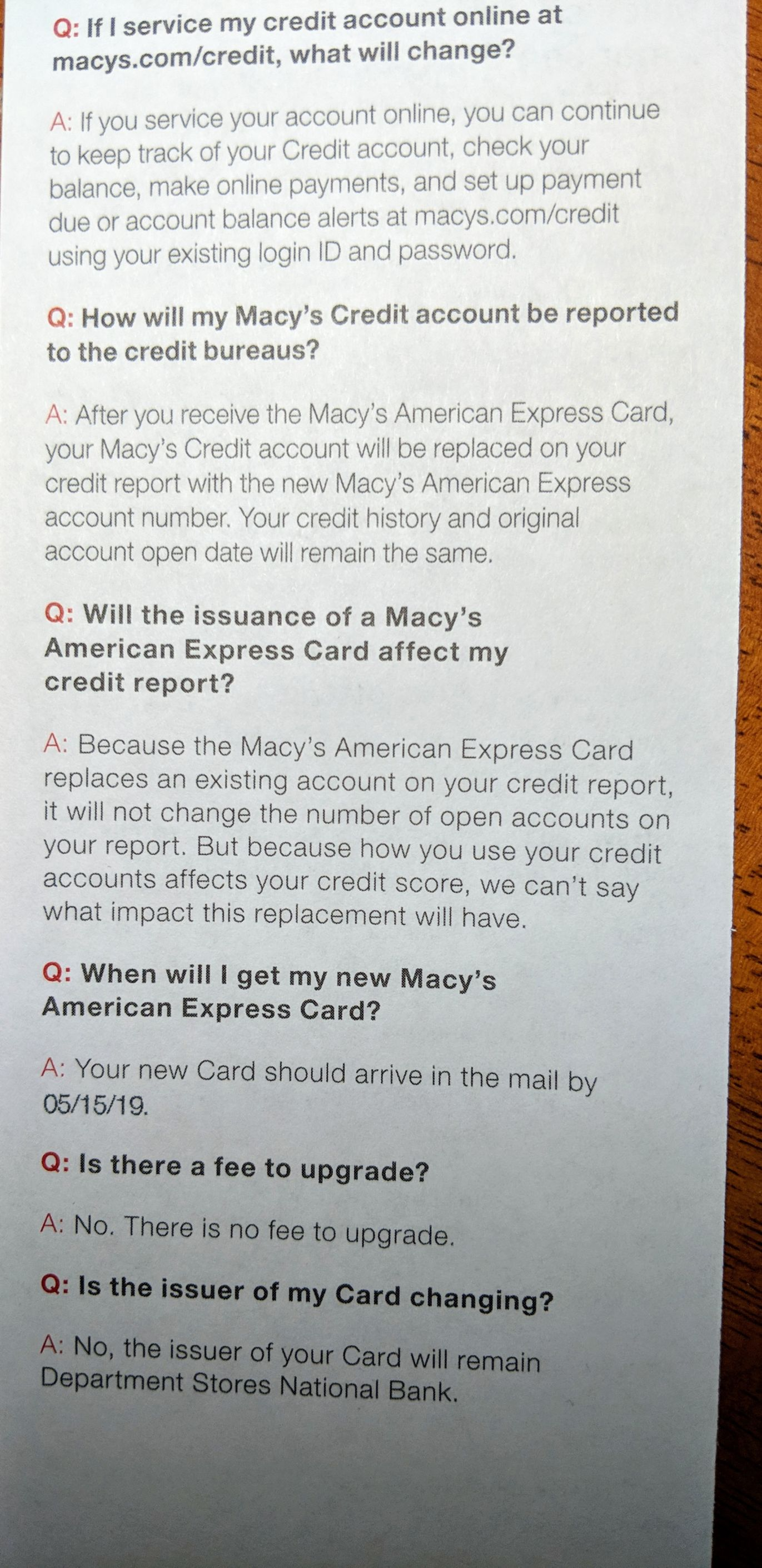auto upgrade to Macy's AMEX - Page 2 - myFICO® Forums - 5504901