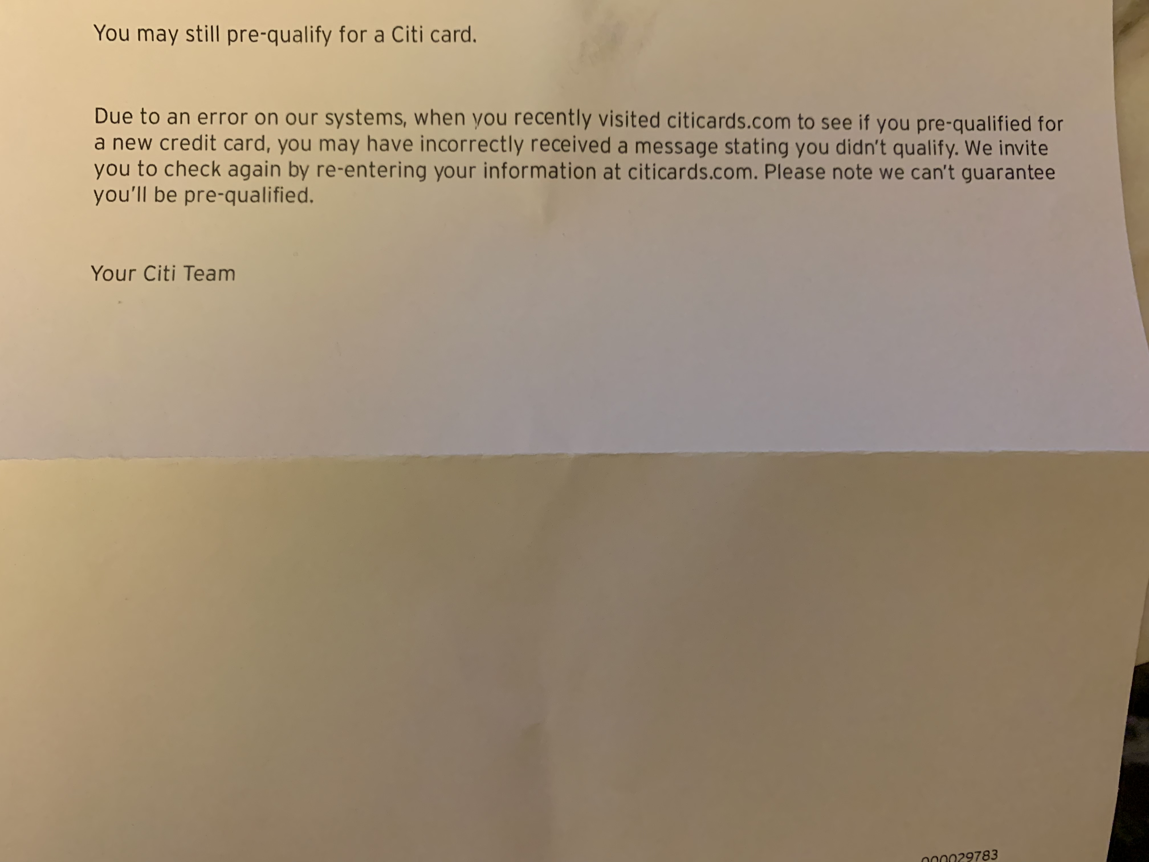 Citi Credit Card Pre Qualify >> Letter Came Today From Citibank Myfico Forums 5628103