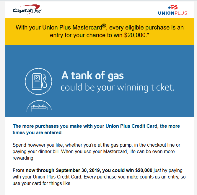 Cap One sweepstakes? - myFICO® Forums - 5661563