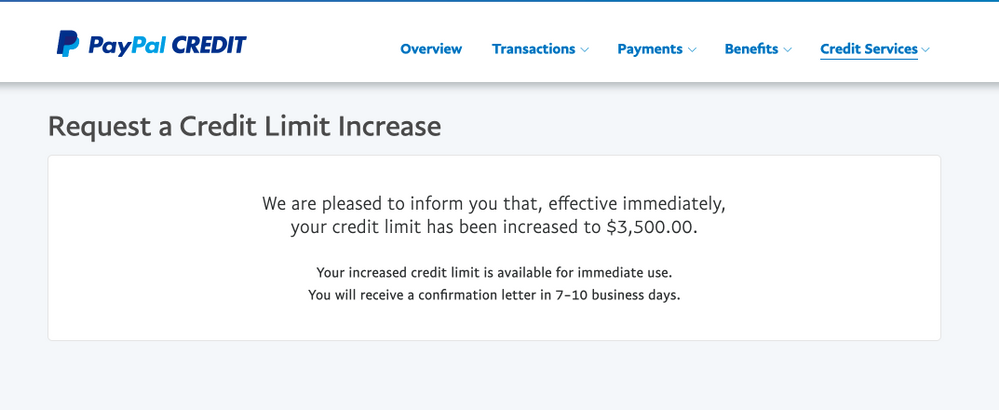 Thanks Synchrony! PayPal Credit CLI  - myFICO® Forums - 5716094