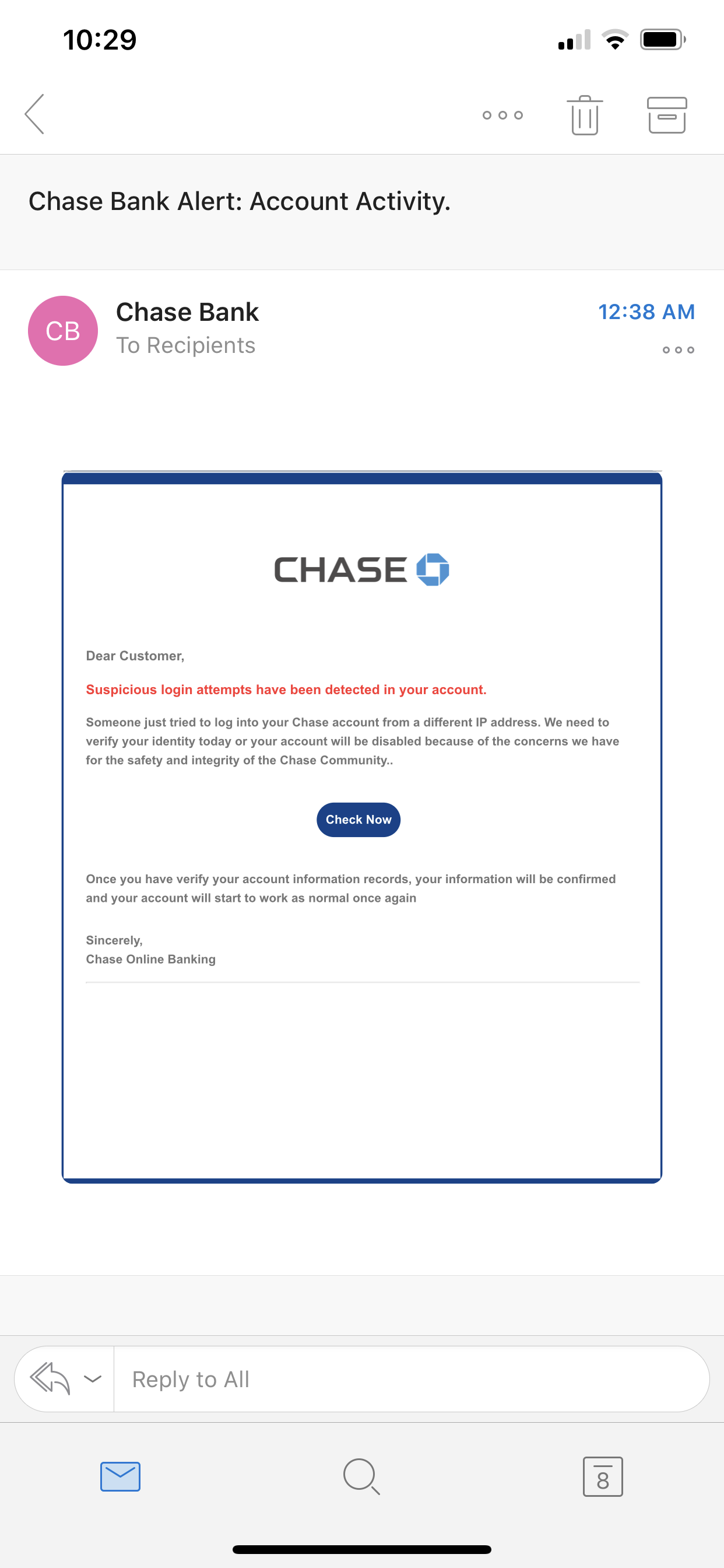 chase bank number fraud