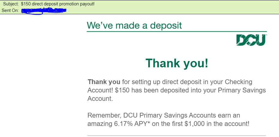 Dcu Auto Loan Calculator >> Dcu 150 Direct Deposit Promotion Payout Myfico Forums