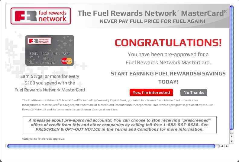 just get pre approved for fuel rewards network mas myfico forums 2673853. Black Bedroom Furniture Sets. Home Design Ideas