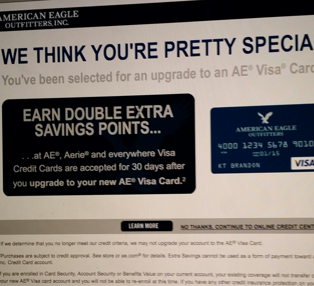 GE American Eagle Outfitters Upgrade Offer FINALLY ...